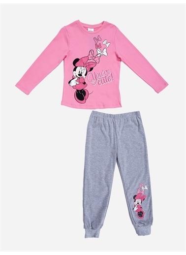 Minnie Mouse Minnie Mouse Lisanslı Çocuk Pijama Takım 18486 Pembe